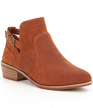 GB Per-Fected Perforated Leather Buckle Bootie