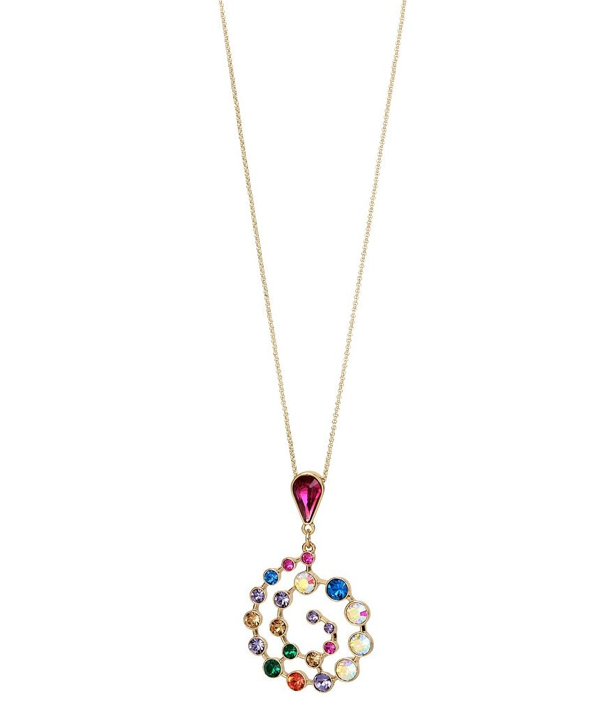 Betsey Johnson Spiral Pendant Necklace