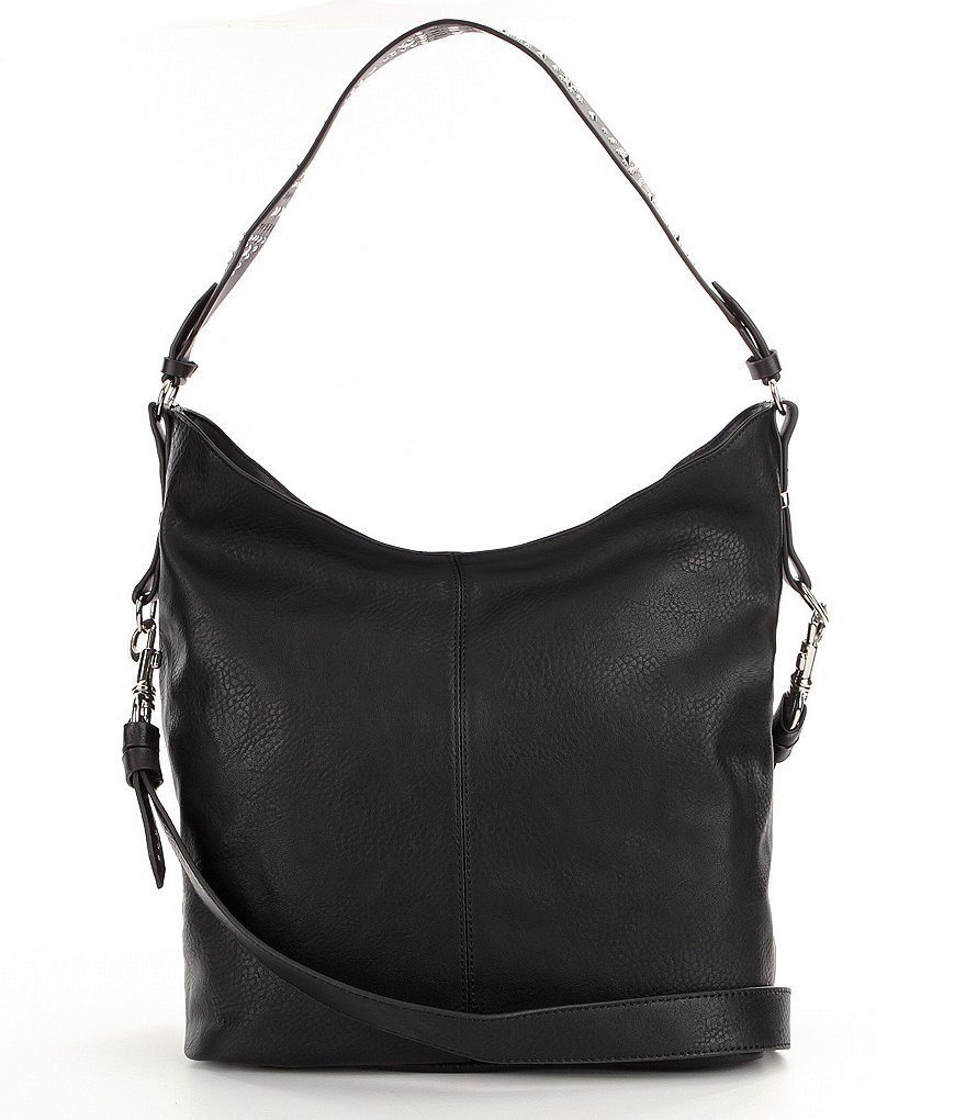 Steve Madden Klint Hobo Bag with Studded Guitar Strap