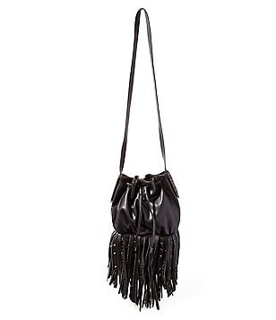 Steve Madden Sandro Fringed Drawstring Bucket Bag
