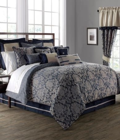 Waterford Sinclair Distressed Damask Comforter Set Dillards