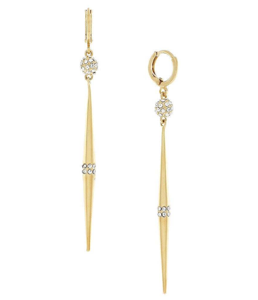Vince Camuto Edged Out Pavé Linear Earrings