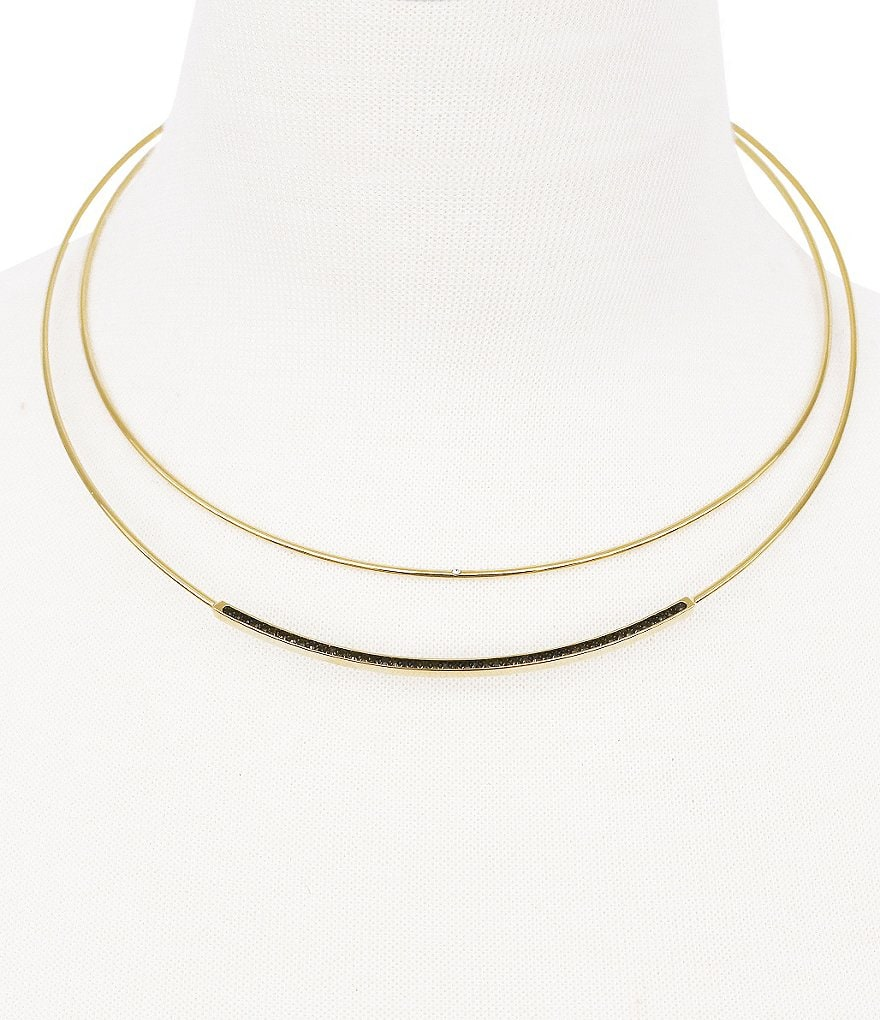 Vince Camuto Light and Dark Multi-Row Collar Necklace
