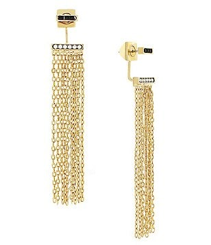 Vince Camuto Light and Dark Fringe Front/Back Earrings
