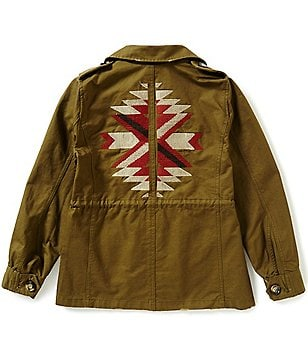 Blu Pepper Big Girls 7-16 Embroidered Cargo Jacket