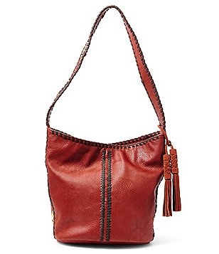 Steven by Steve Madden Macey Whip-Stitched Hobo Bucket Bag