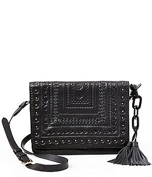 Steven by Steve Madden Alina Tasseled Whip-Stitched Cross-Body Bag