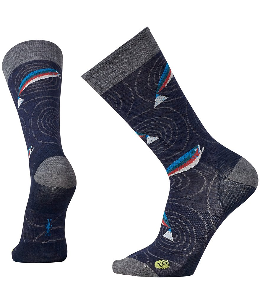 SmartWool Charley Harper Rocky Mountain Fish Novelty Print Crew Socks