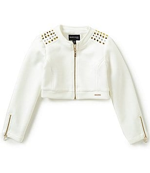 Marciano Big Girls 7-16 Studded Zip-Front Cropped Jacket