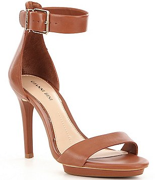 Gianni Bini Two-Piece Lizette Ankle Strap Solid Dress Sandals