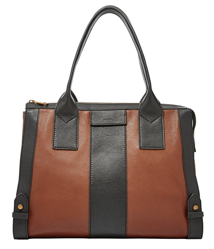 Fossil Gwen Color Block Satchel