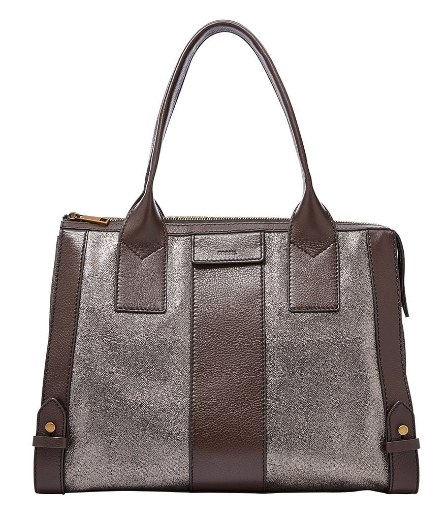 Fossil Gwen Color Block Metallic Satchel