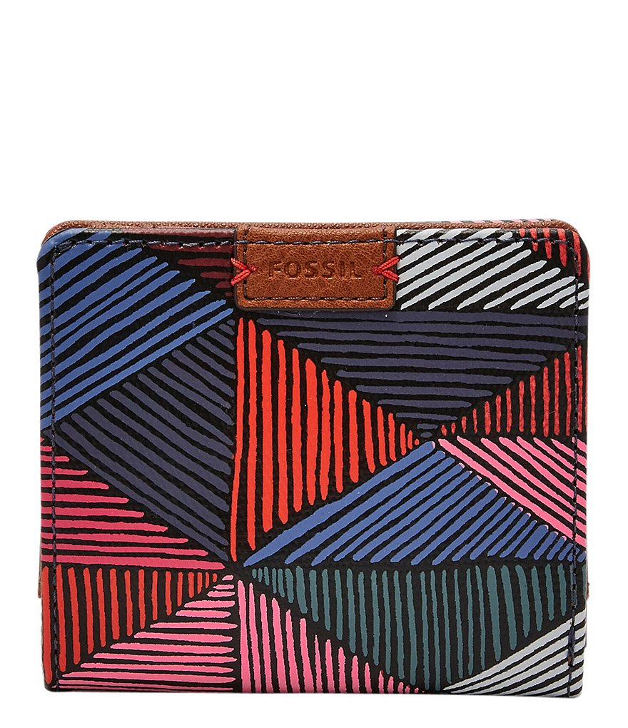 Fossil Emma Diamond-Print RFID Mini Wallet
