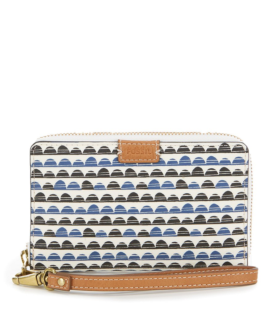 Fossil Emma Diamond-Print RFID Phone Wallet