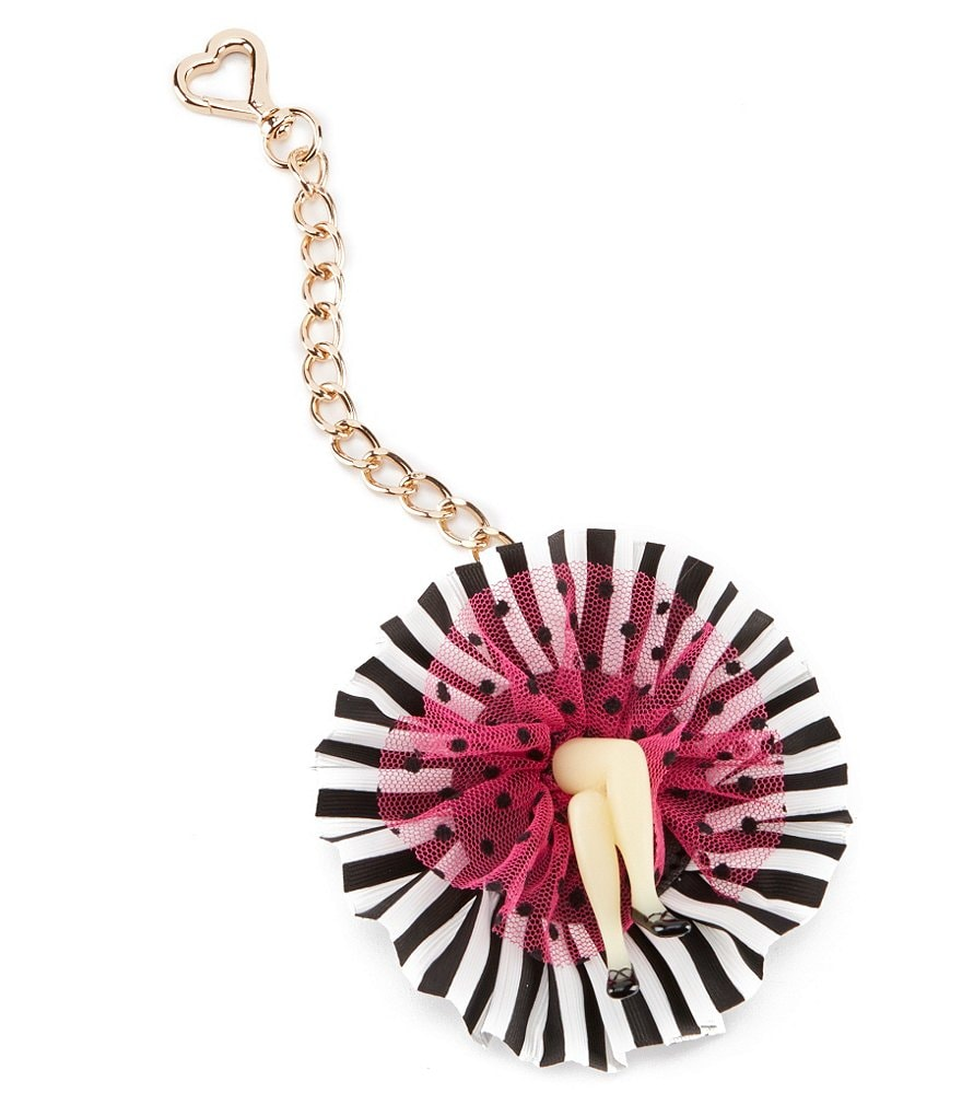 Betsey Johnson Can Can Girl Keychain