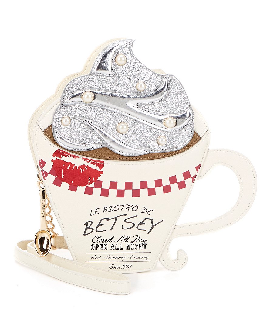 Betsey Johnson Brewed Awakening Coffee Cross-Body Bag