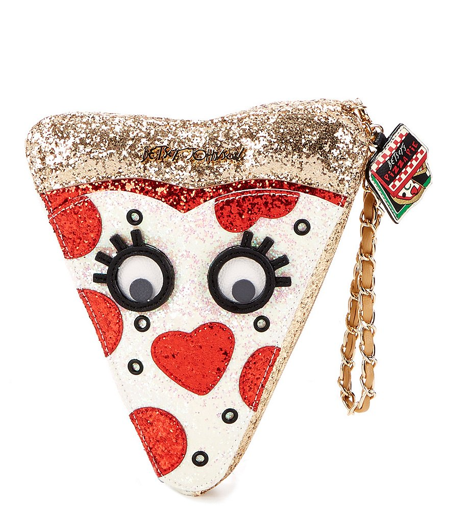 Betsey Johnson Say Cheese Pizza Wristlet