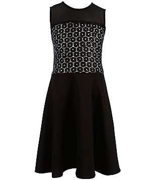 Penelope Tree Big Girls 8-14 Mary Jane Sequin-Lace Skater Dress