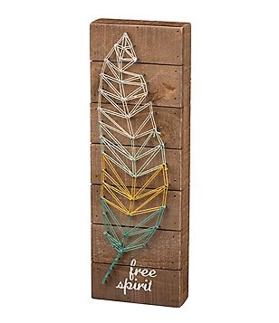 Primitives by Kathy Free Spirit String Art Box Sign