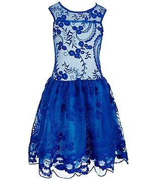 Penelope Tree Big Girls 8-14 Emmalie Embroidered Dress