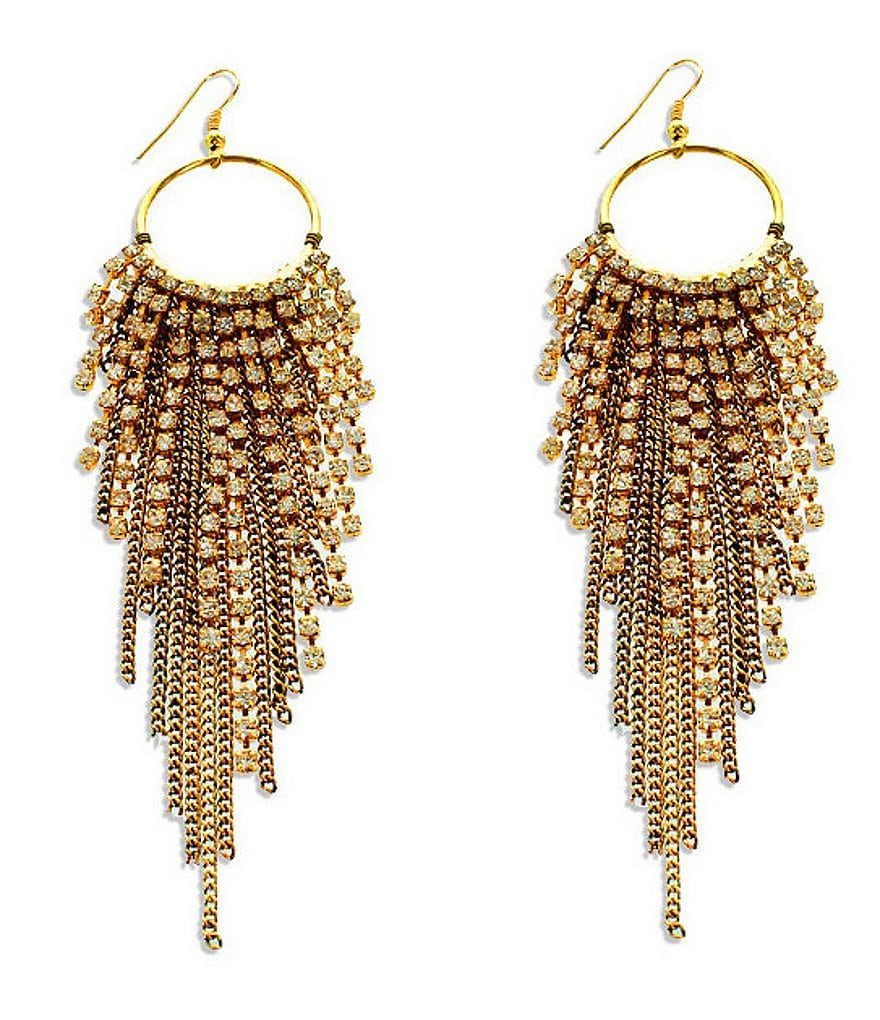 Panacea Pavé Statement Earrings