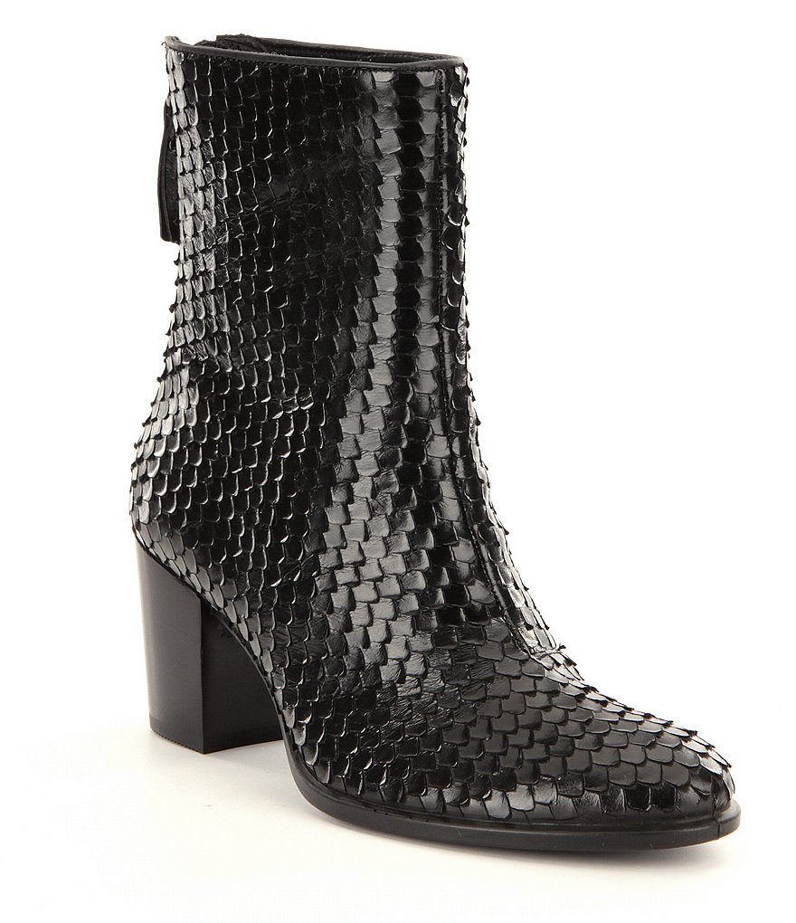 ECCO Shape 55 Black Waco Booties