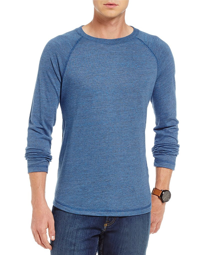Cremieux Jeans Heathered Knit Raglan Long-Sleeve Tee