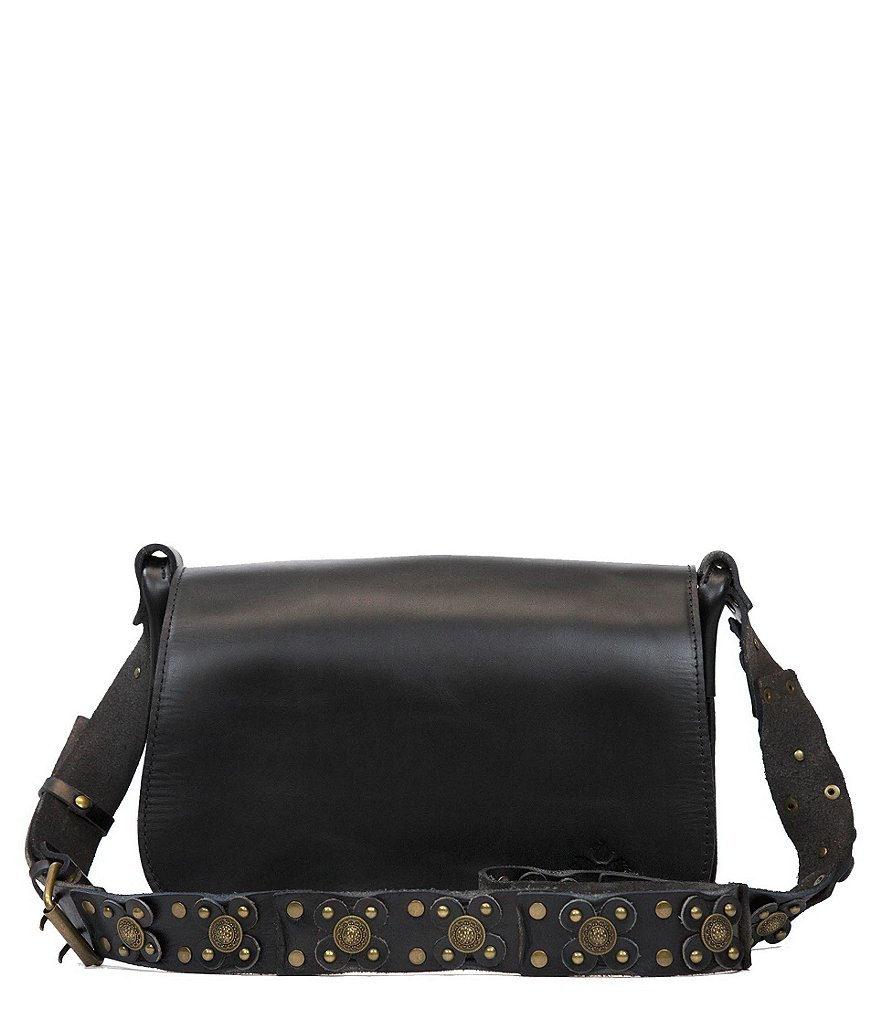 Patricia Nash Strapped Vintage Collection Rosa Saddle Bag