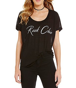 William Rast Stefani Rock Chic Graphic Tee