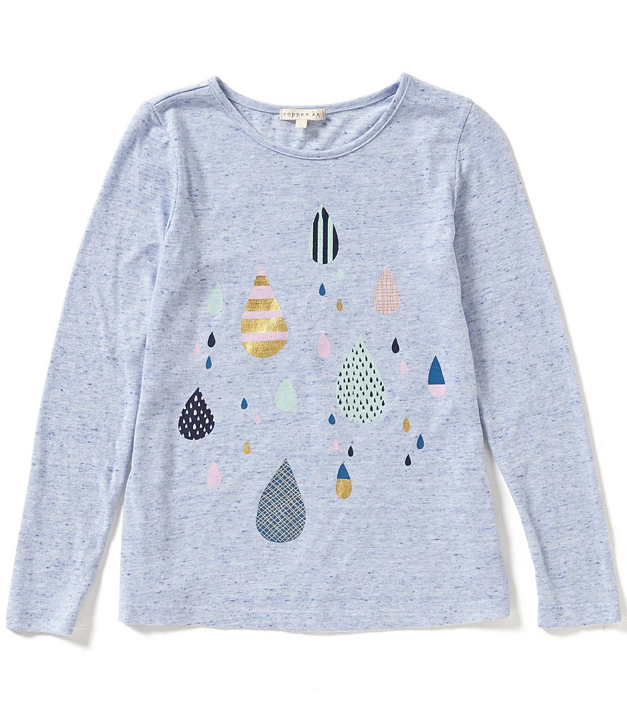 Copper Key Big Girls 7-16 Raindrops Screen Tee