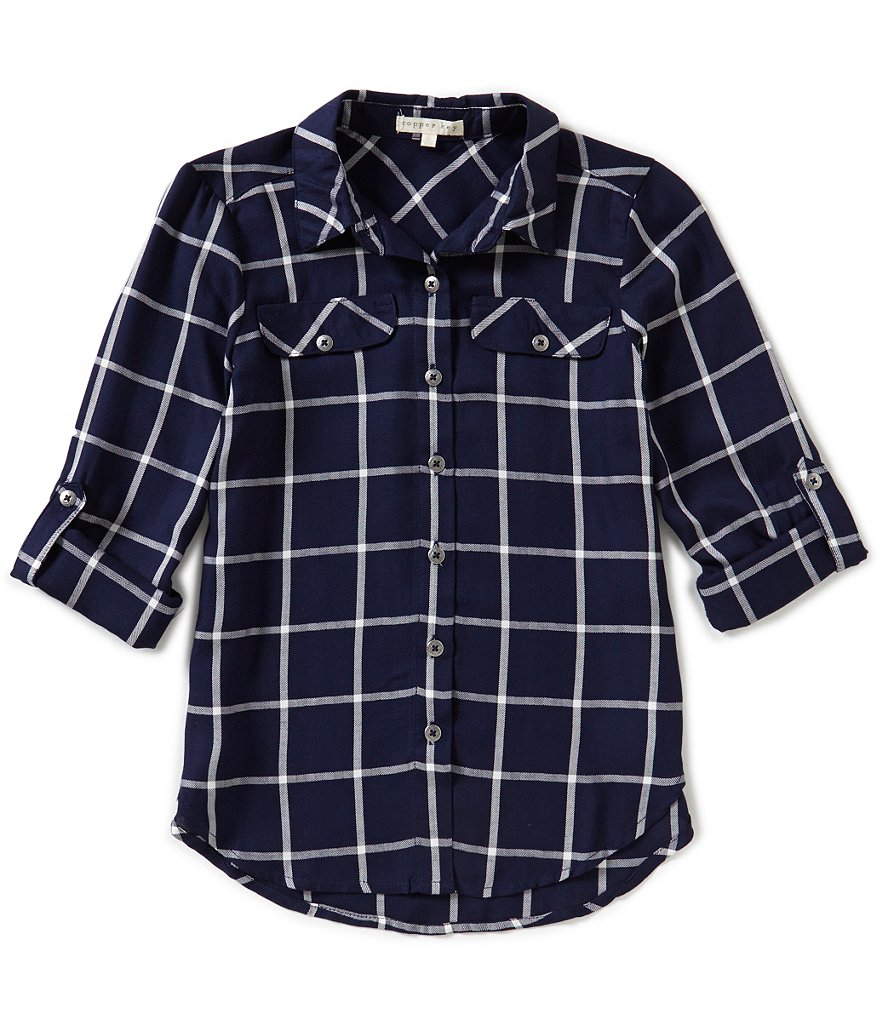 Copper Key Big Girls 7-16 Button-Front Shirt