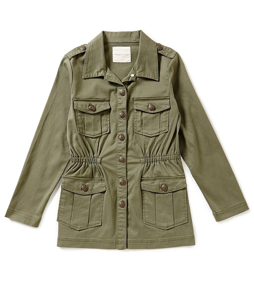 Copper Key Big Girls 7-16 Button Front Jacket