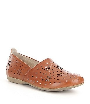 Josef Seibel Fiona 31 Flower Cutout Detail Leather Slip Ons