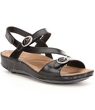 Romika Fidschi 48 Leather Buckled Strap Hook and Loop Sandals