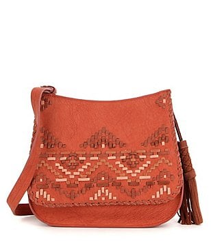 Steven by Steve Madden Brenda Tasseled Whip-Stitched Saddle Bag