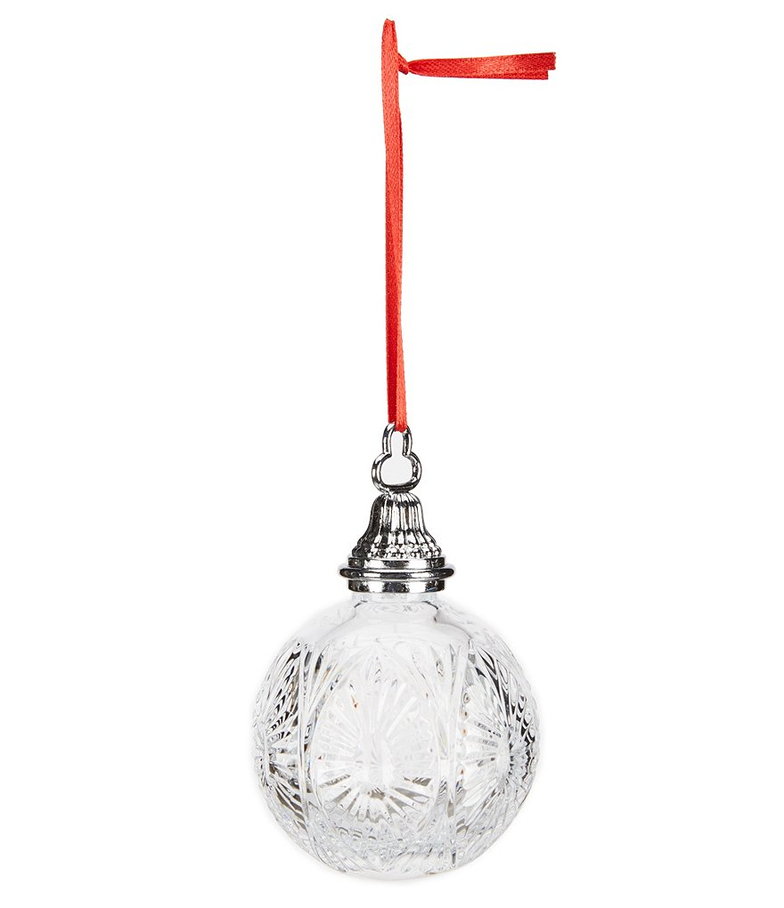 Waterford Archived 2009 Time Square Collection Crystal Christmas Ball Ornament