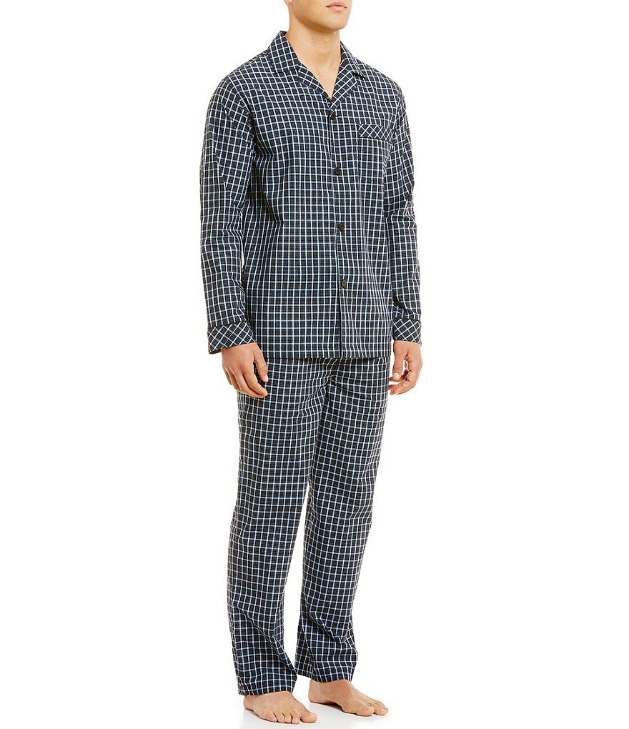 Roundtree & Yorke Big & Tall Striped Pajama Set