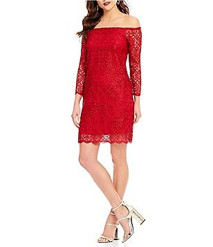 Lucy Paris Renee Lace Off-the-Shoulder Dress