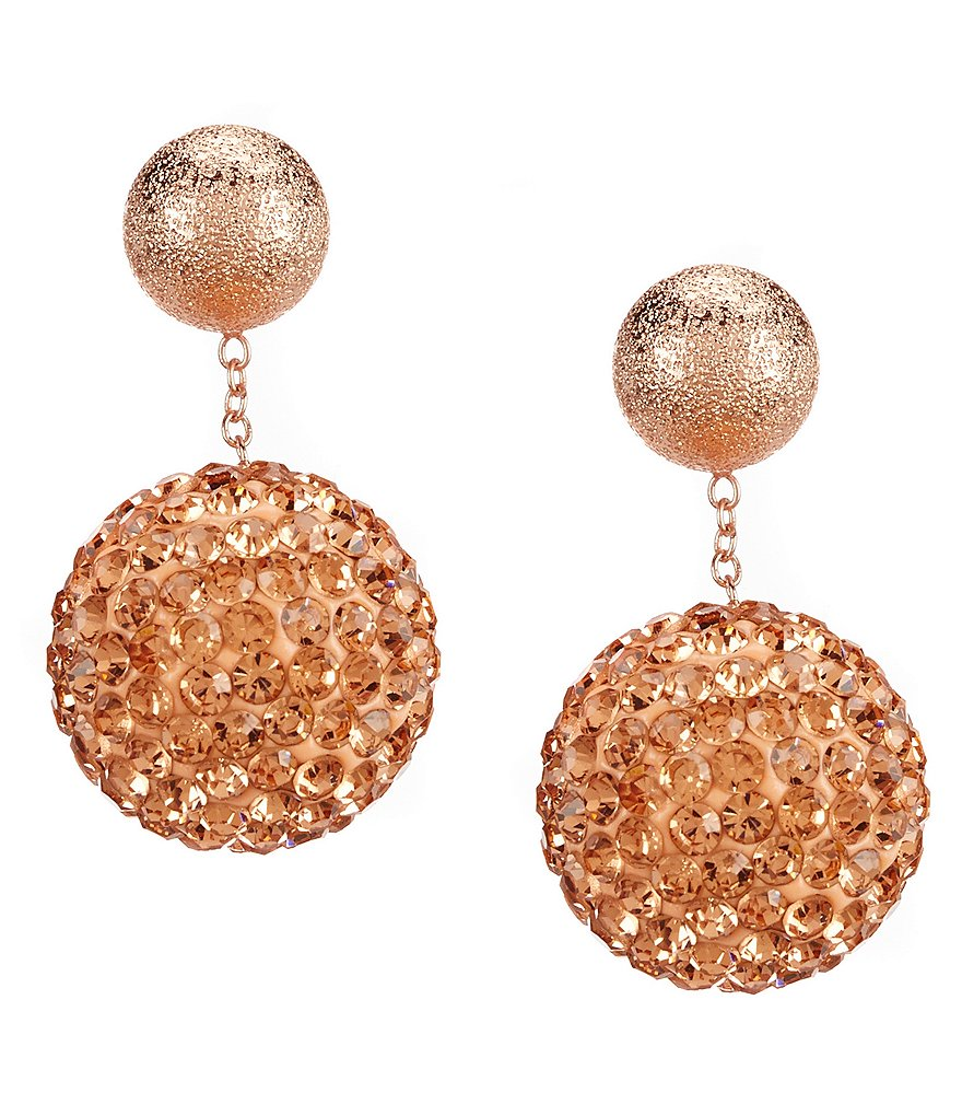 Cezanne Crystal Pavé Ball Front/Back Drop Earrings