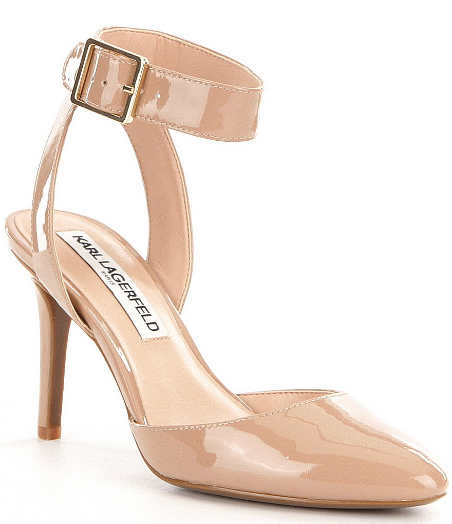 Karl Lagerfeld Paris Jaclyn Buckle Closure Pointed-Toe Pumps