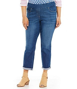Westbound Plus the PARK AVE fit Rolled Hem Boyfriend Jeans