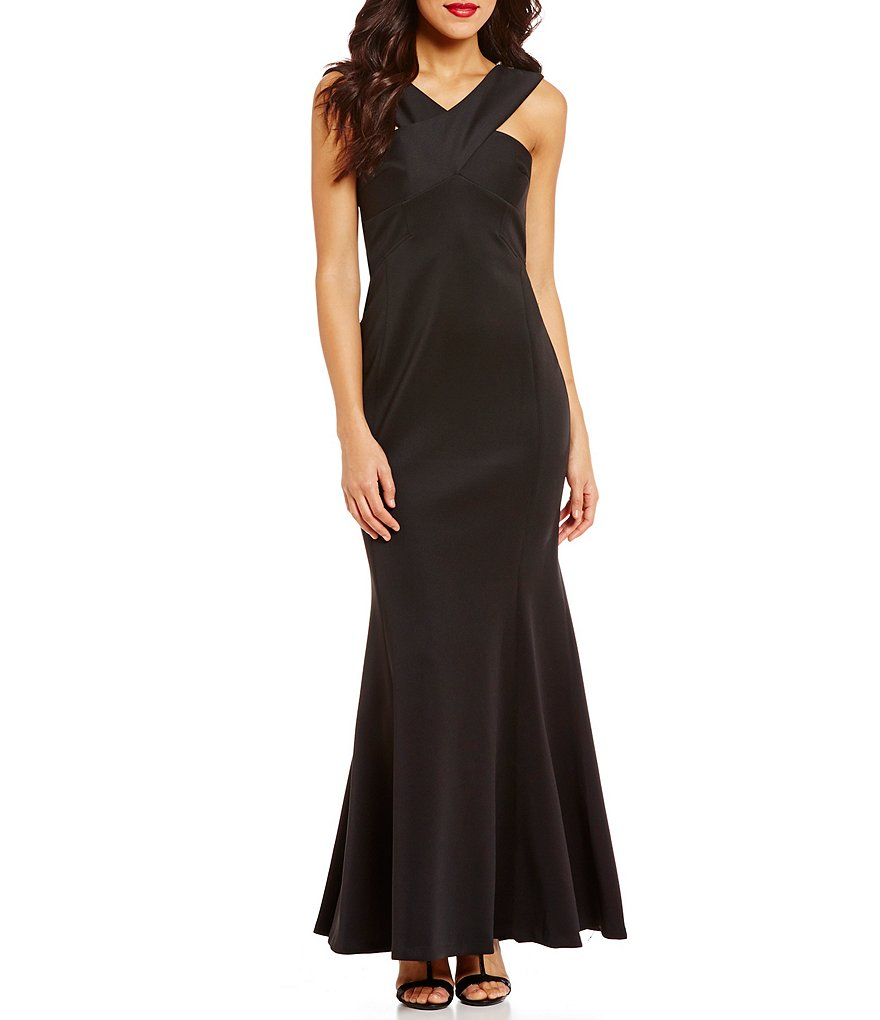 Calvin Klein Long X-Neck Scuba Sleeveless Gown