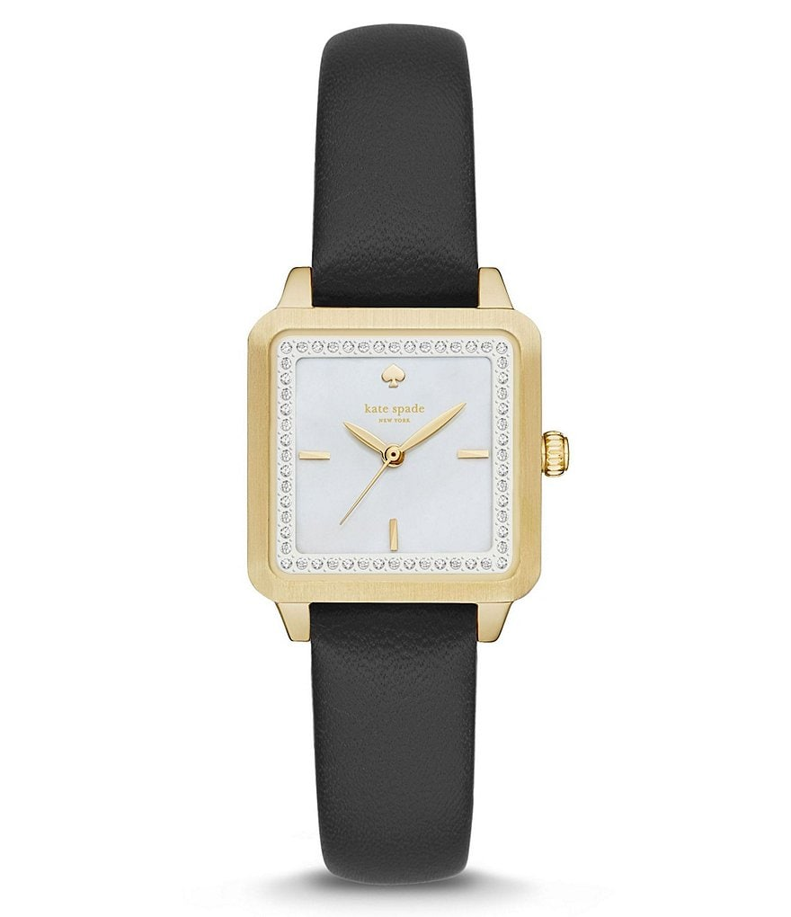 kate spade new york Washington Square Analog Leather-Strap Watch