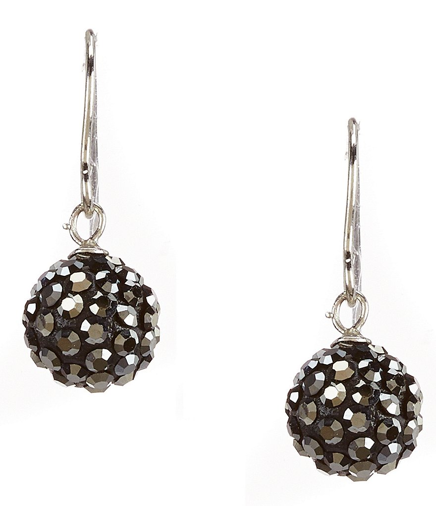 Cezanne Crystal Ball Drop Wire Earrings