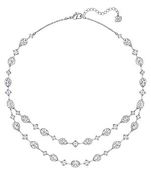 Swarovski Folk Crystal Multi-Strand Collar Necklace