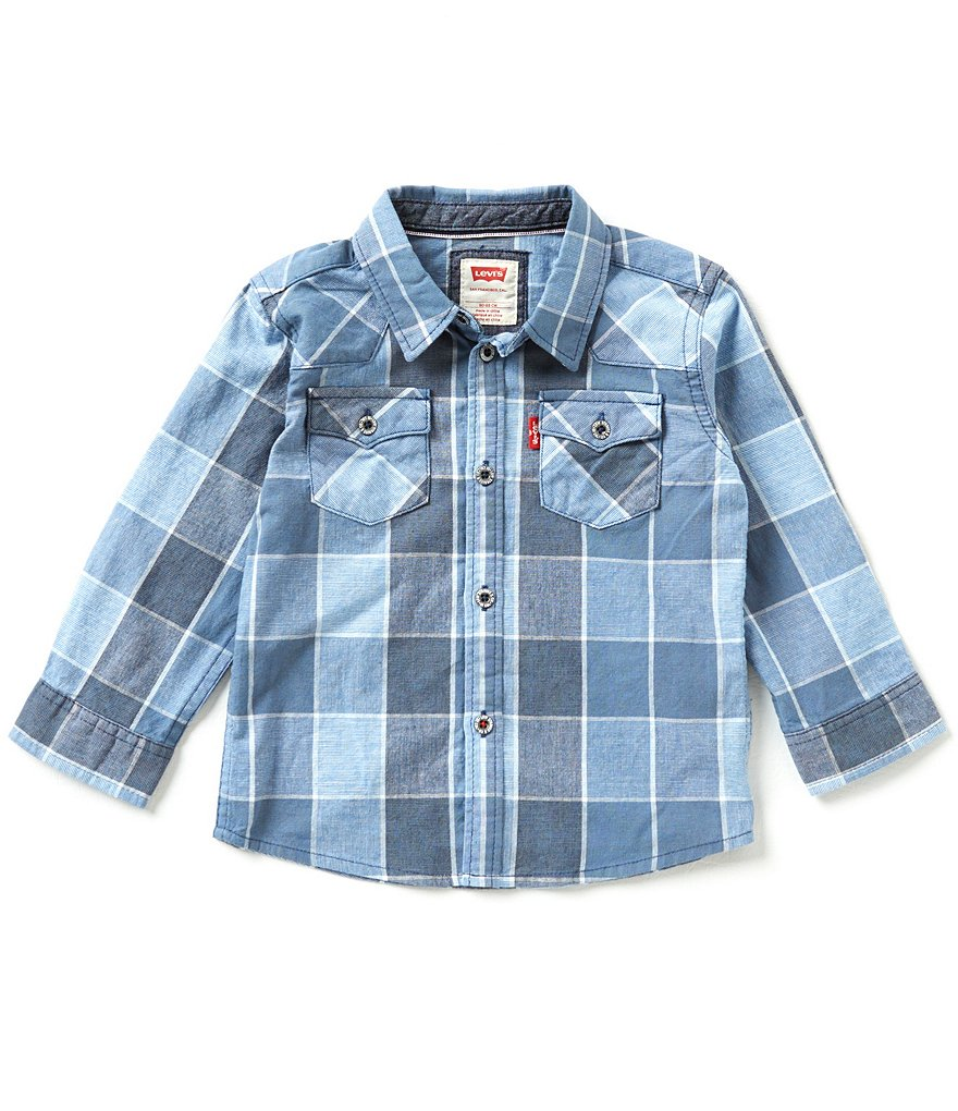Levi´s Baby Boys 12-24 Months Barstow Plaid Western Shirt