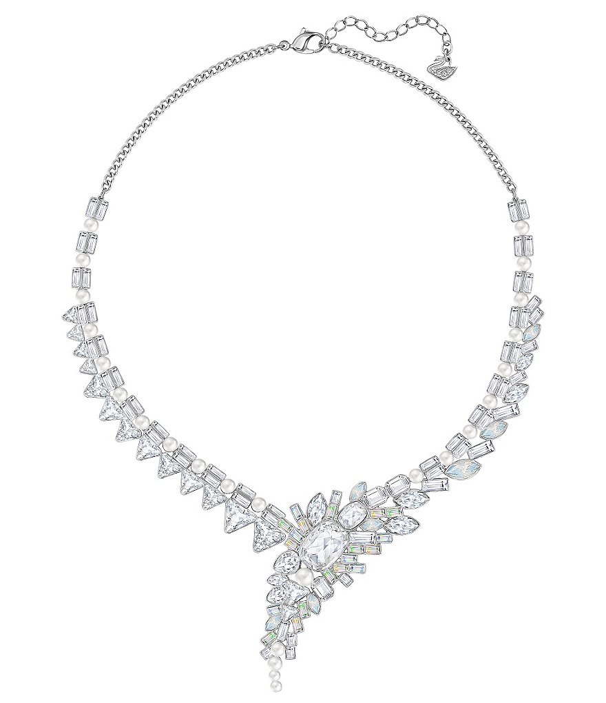 Swarovski Festivity Crystal Pearl Statement Collar Necklace