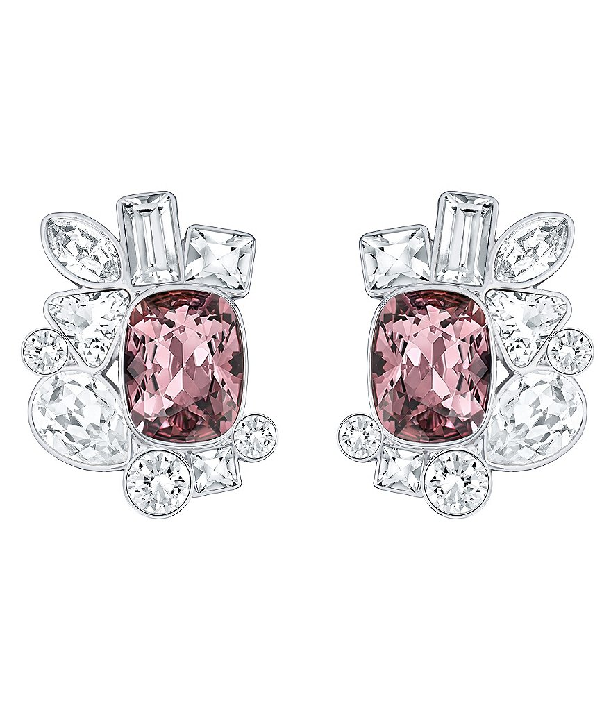 Swarovski Formidable Crystal Cluster Stud Earrings