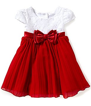 Sweet Heart Rose Baby Girls 12-24 Months Knit To Woven Dress