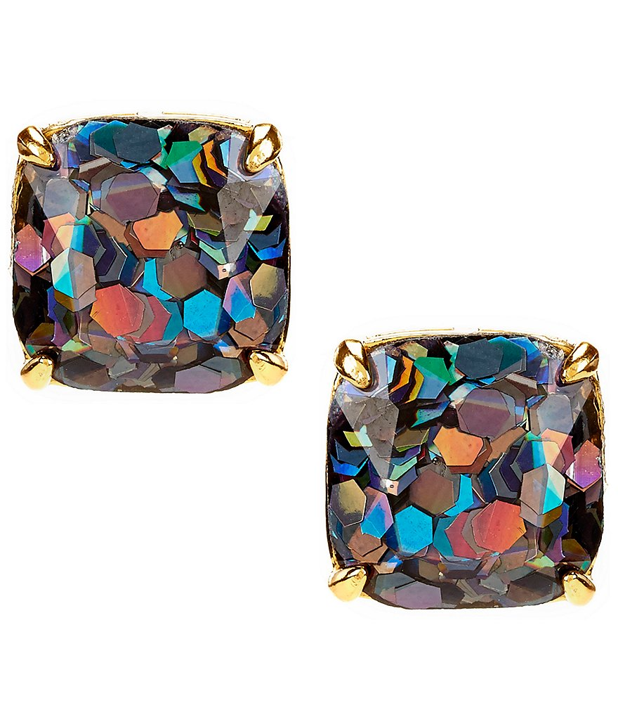 kate spade new york Glitter Small Square Stud Earrings